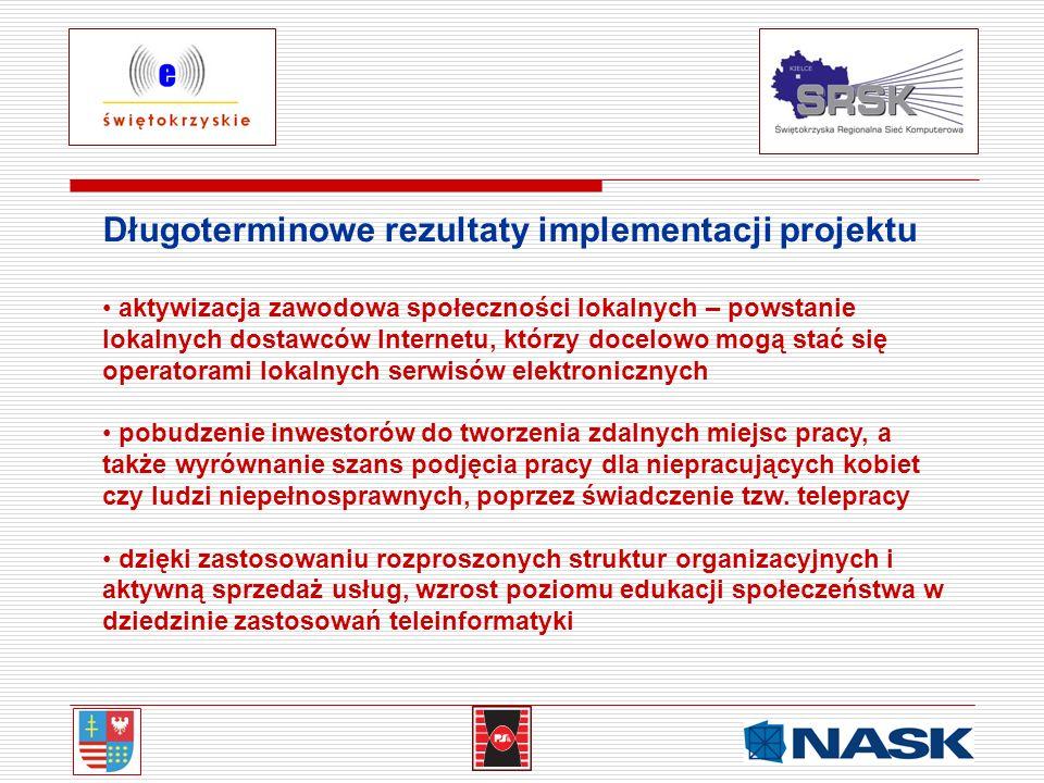 Długoterminowe rezultaty implementacji projektu