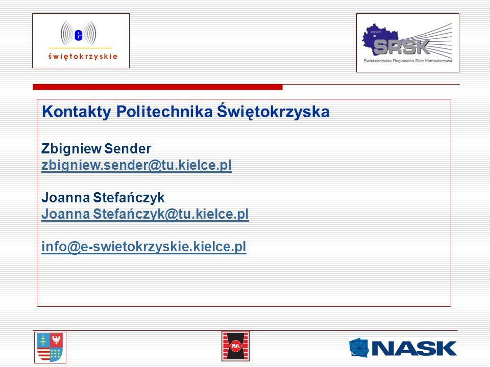 Kontakty Politechnika Świętokrzyska