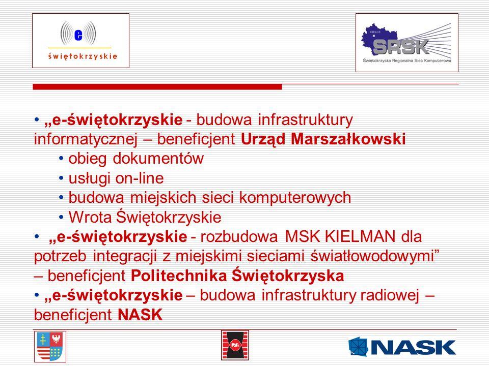 """""""e-świętokrzyskie - budowa infrastruktury informatycznej – beneficjent Urząd Marszałkowski"""