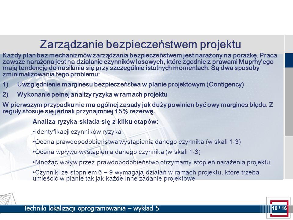 Zarządzanie bezpieczeństwem projektu
