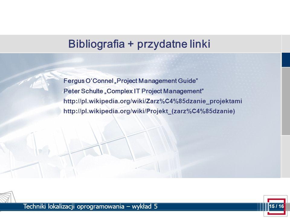 Bibliografia + przydatne linki