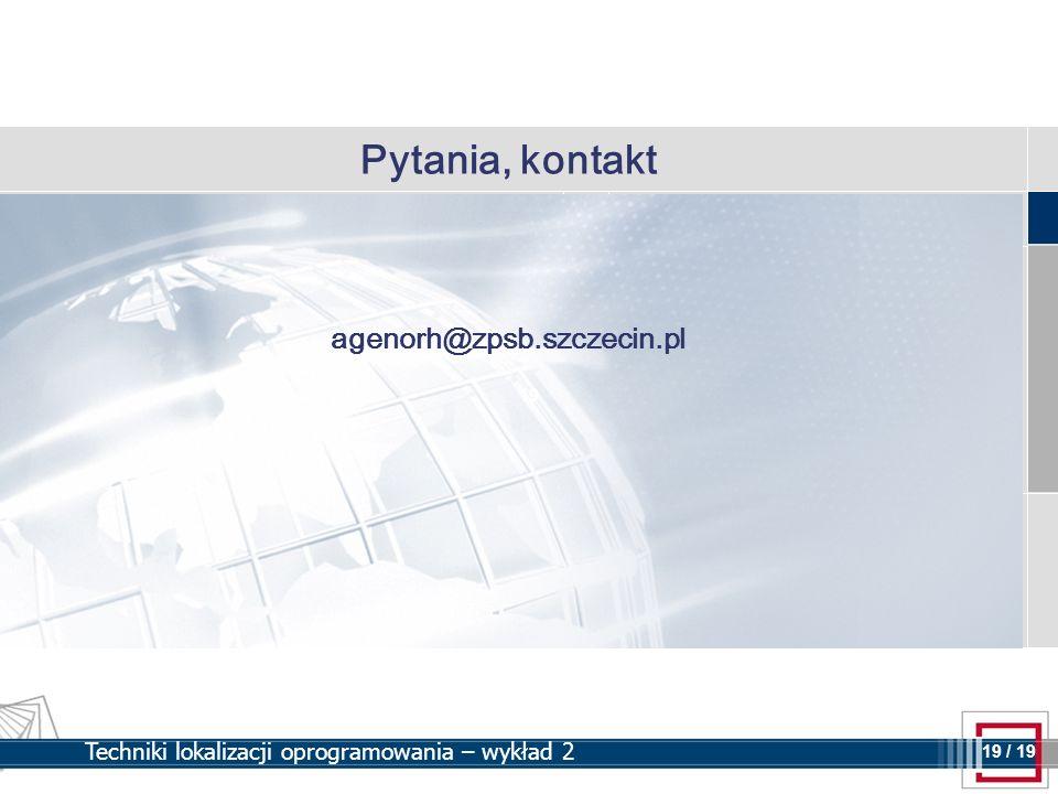 Pytania, kontakt agenorh@zpsb.szczecin.pl
