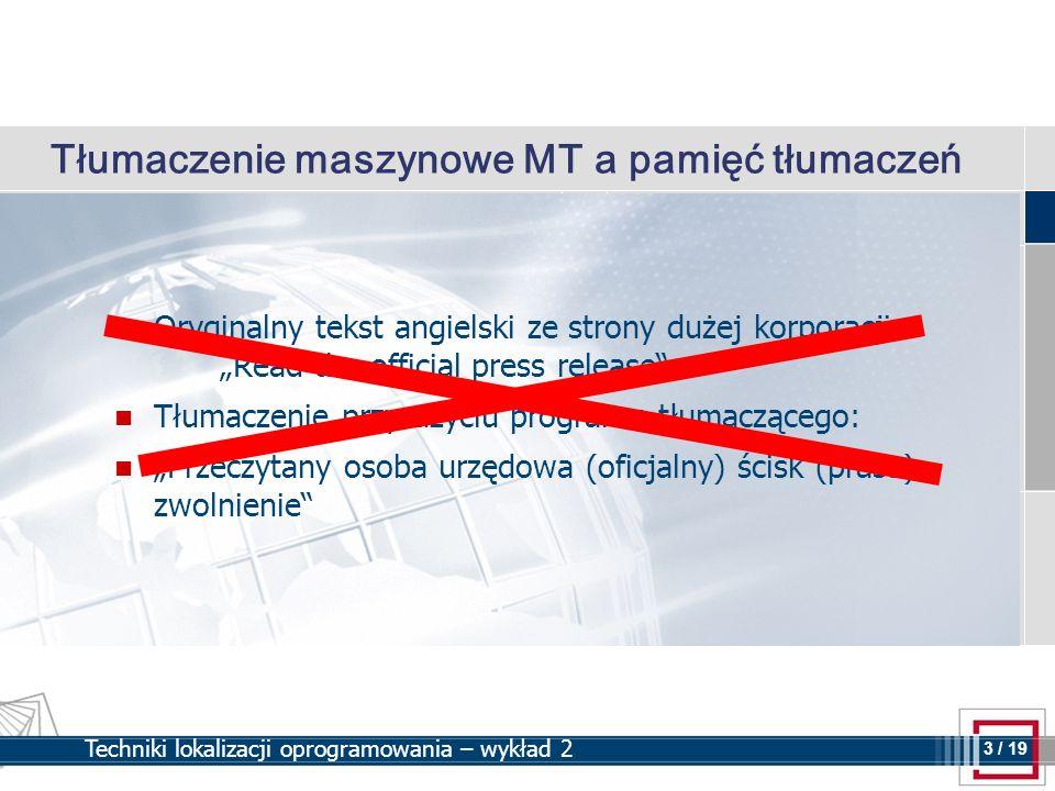 Tłumaczenie maszynowe MT a pamięć tłumaczeń