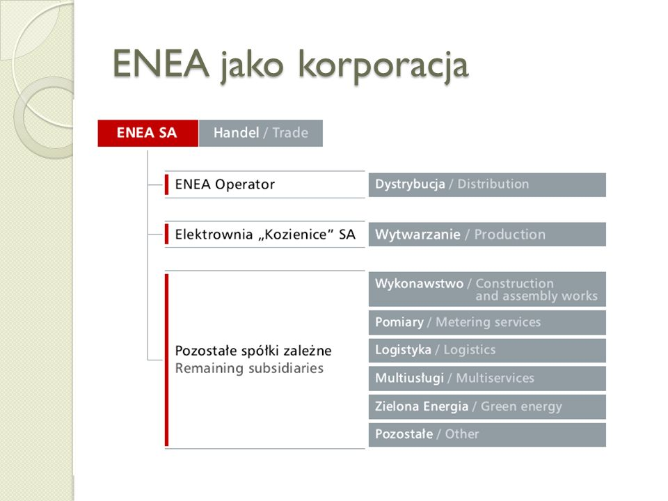 ENEA jako korporacja