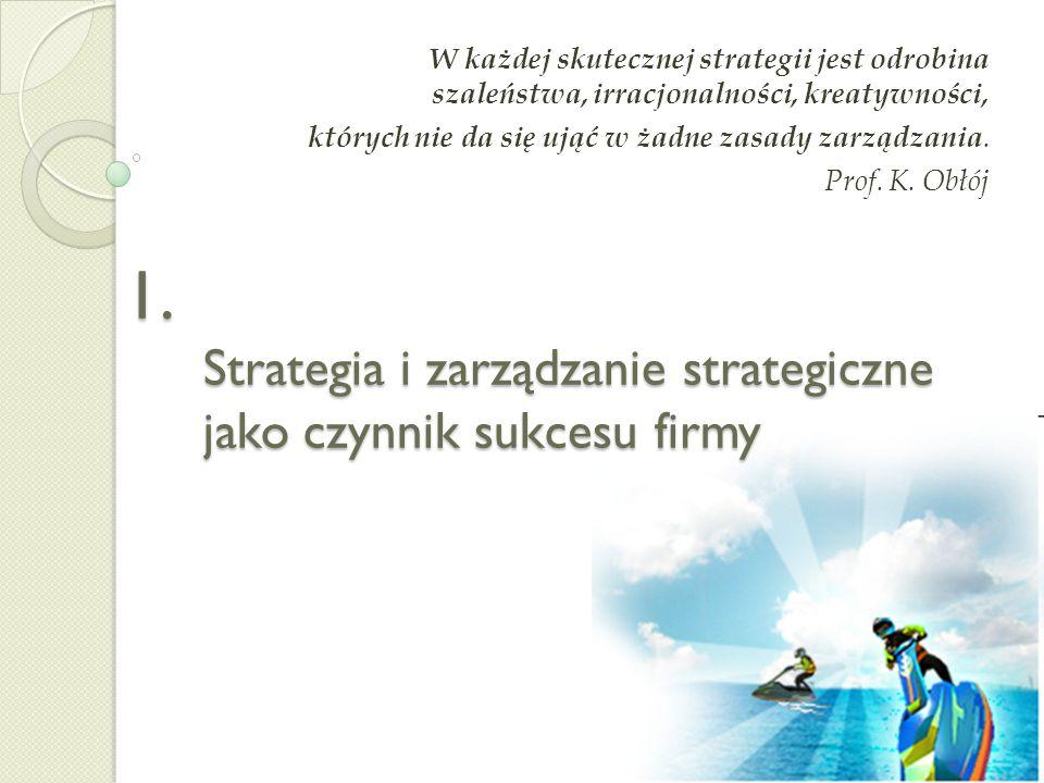 Strategia i zarządzanie strategiczne jako czynnik sukcesu firmy