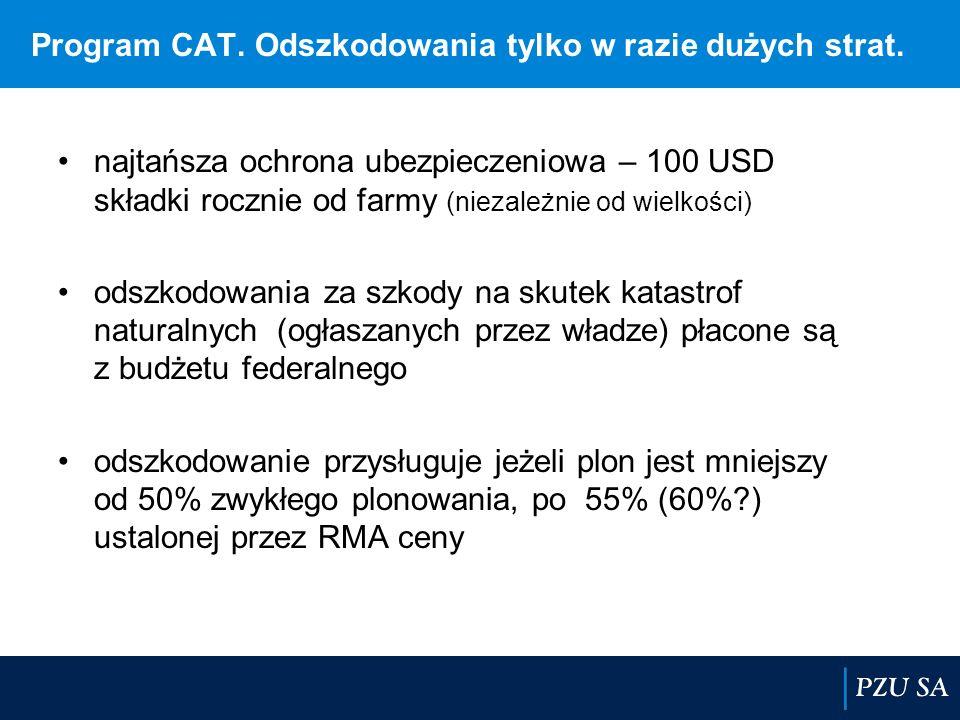 Program CAT. Odszkodowania tylko w razie dużych strat.