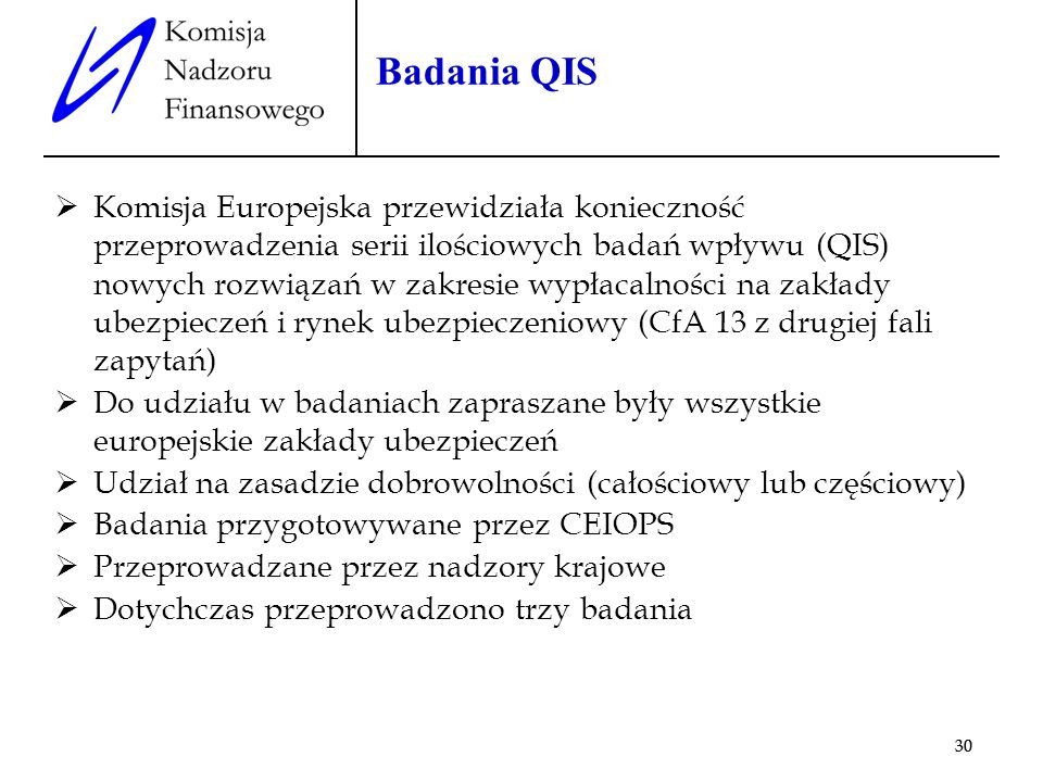 Badania QIS