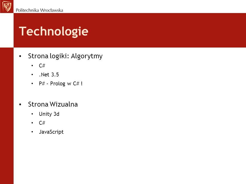 Technologie Strona logiki: Algorytmy Strona Wizualna C# .Net 3.5