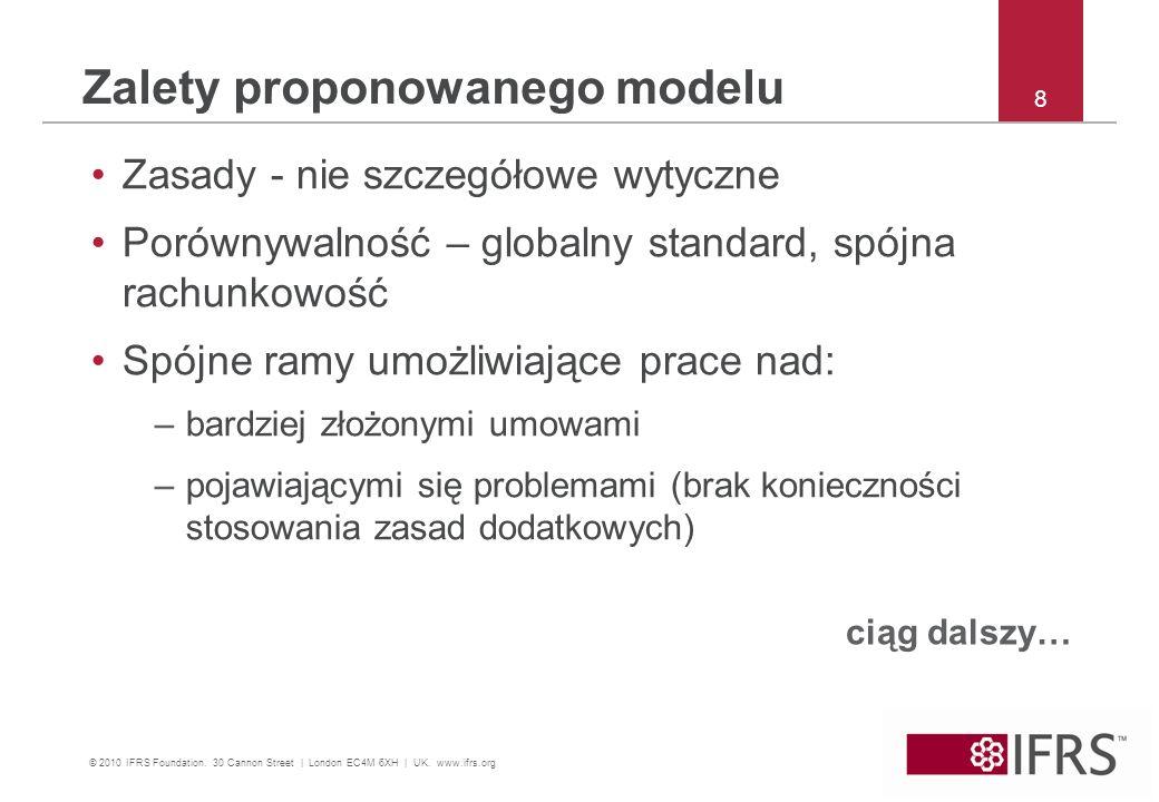 Zalety proponowanego modelu