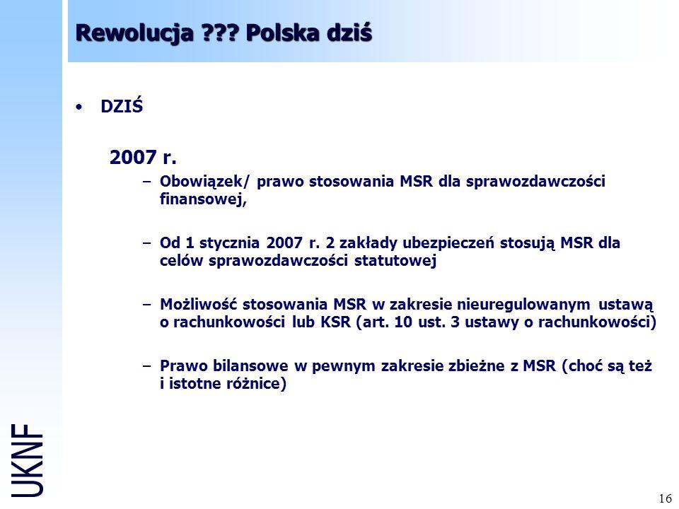 Rewolucja Polska dziś 2007 r. DZIŚ