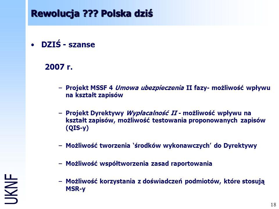 Rewolucja Polska dziś DZIŚ - szanse 2007 r.