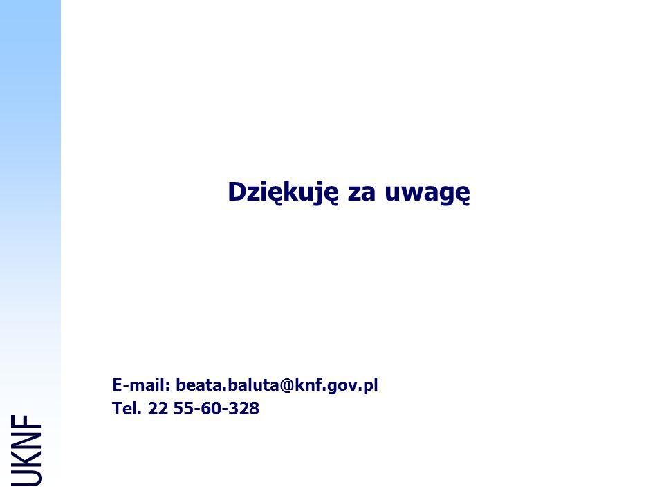 E-mail: beata.baluta@knf.gov.pl Tel. 22 55-60-328