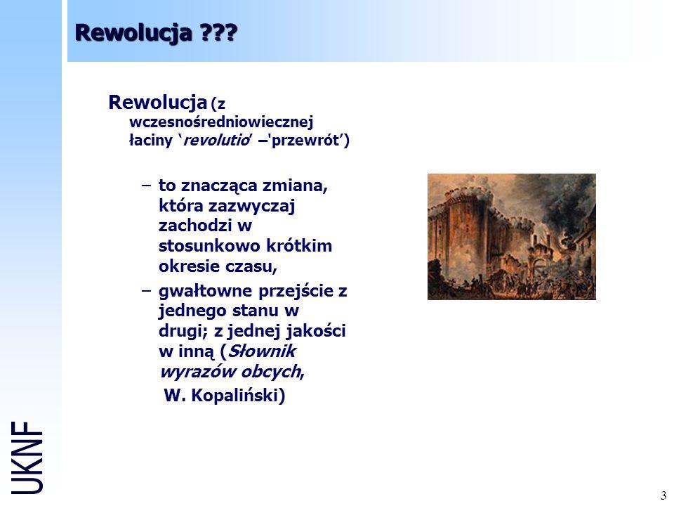 Rewolucja Rewolucja (z wczesnośredniowiecznej łaciny 'revolutio' – przewrót')