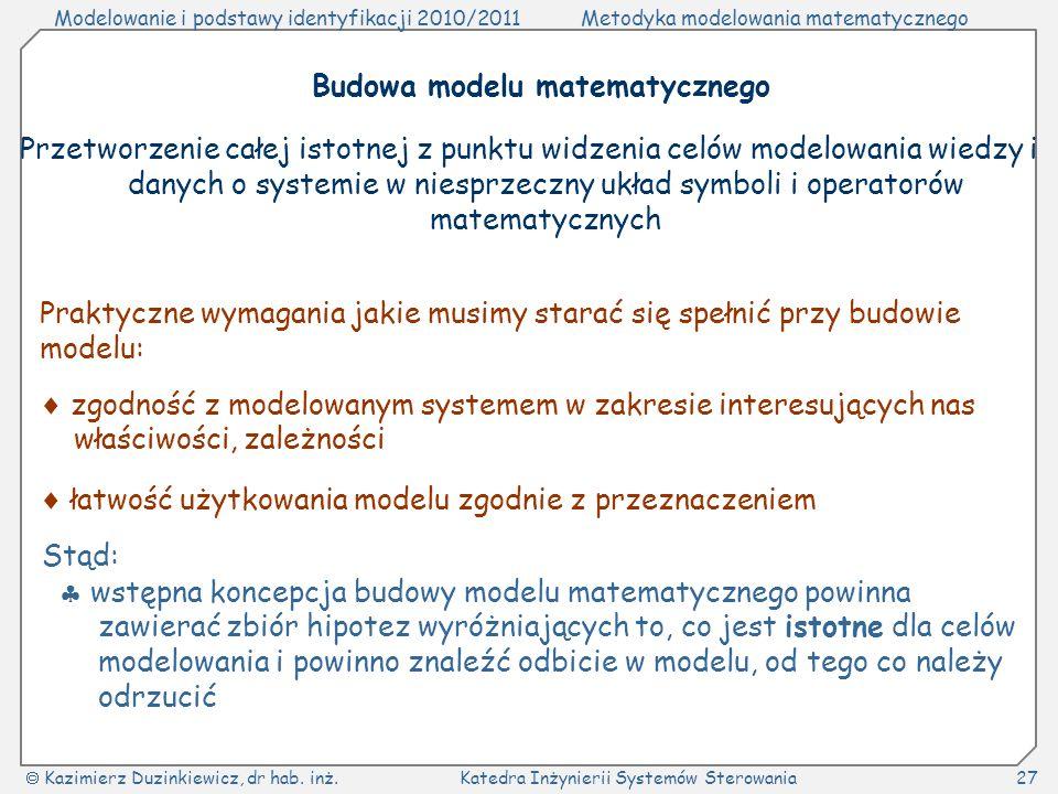 Budowa modelu matematycznego