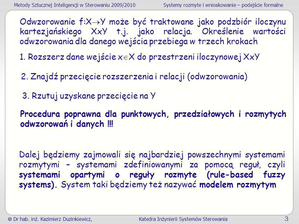 Odwzorowanie f:XY może być traktowane jako podzbiór iloczynu kartezjańskiego XxY t.j. jako relacja. Określenie wartości odwzorowania dla danego wejścia przebiega w trzech krokach