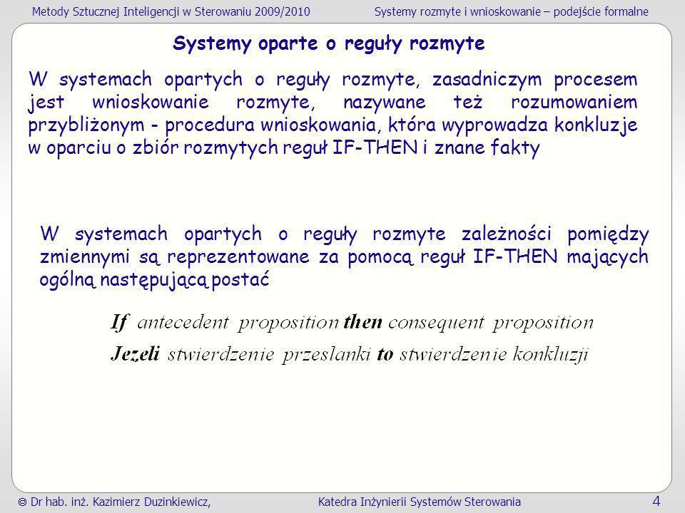 Systemy oparte o reguły rozmyte