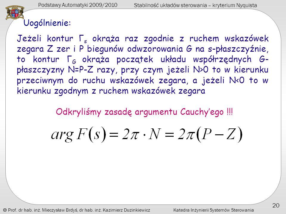 Odkryliśmy zasadę argumentu Cauchy'ego !!!