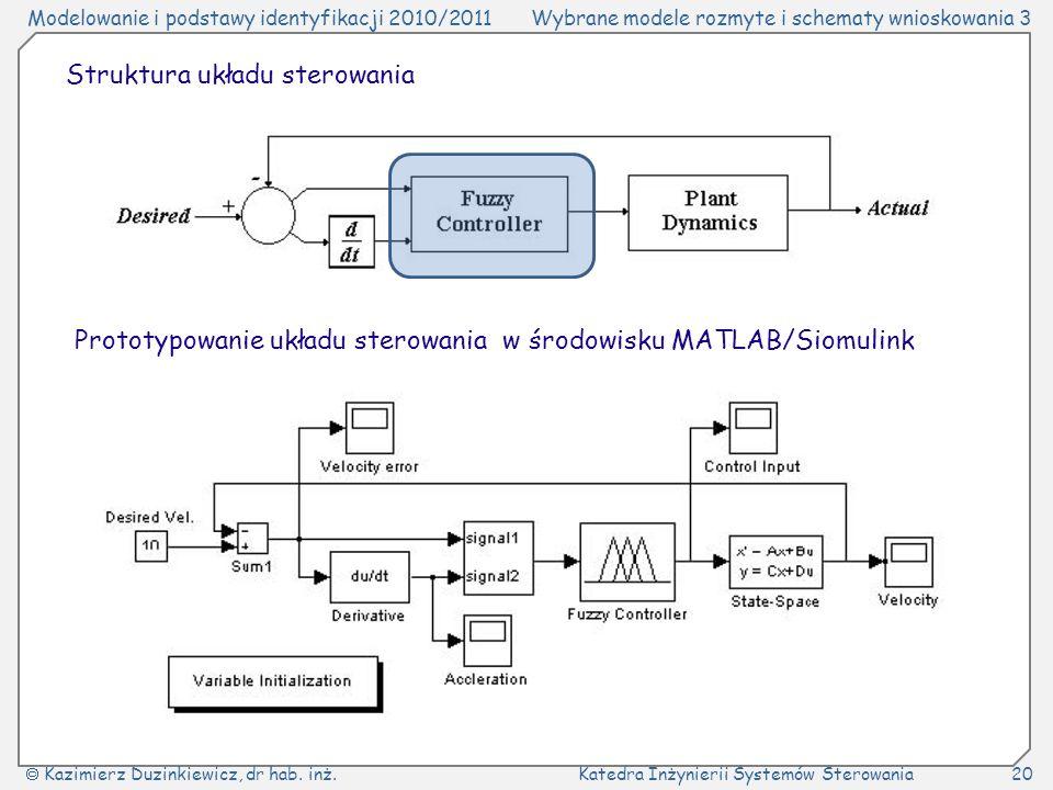 Struktura układu sterowania