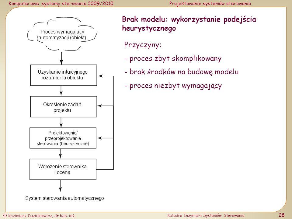 Brak modelu: wykorzystanie podejścia heurystycznego