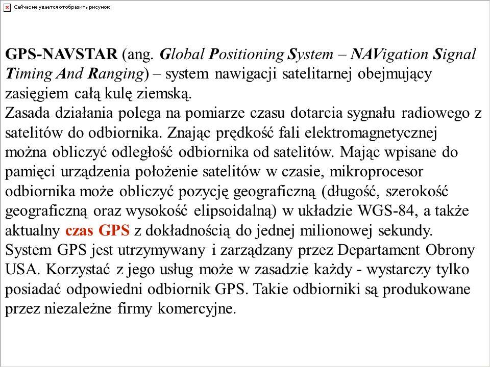 GPS-NAVSTAR (ang. Global Positioning System – NAVigation Signal Timing And Ranging) – system nawigacji satelitarnej obejmujący zasięgiem całą kulę ziemską.