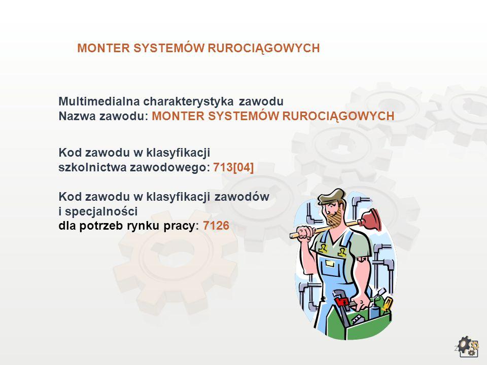 MONTER SYSTEMÓW RUROCIĄGOWYCH