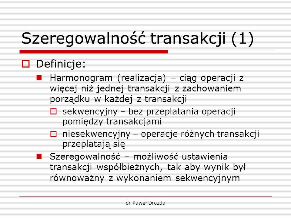 Szeregowalność transakcji (1)
