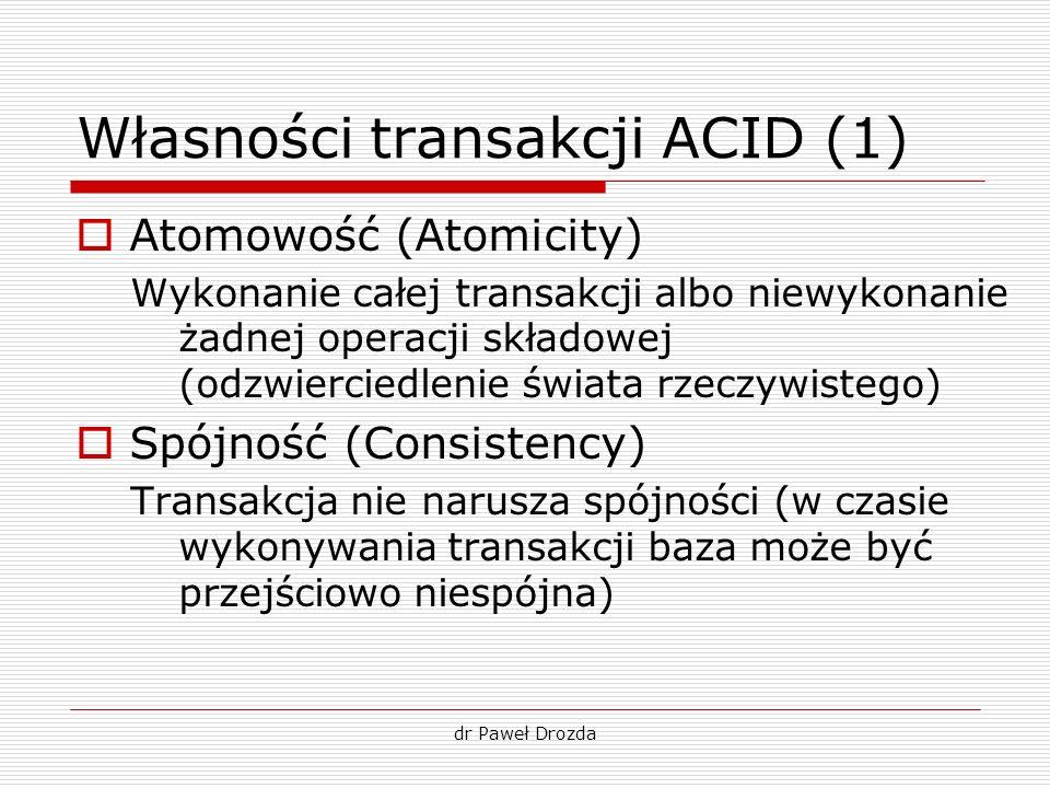 Własności transakcji ACID (1)