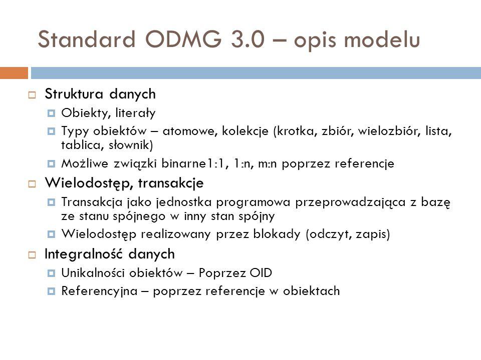 Standard ODMG 3.0 – opis modelu