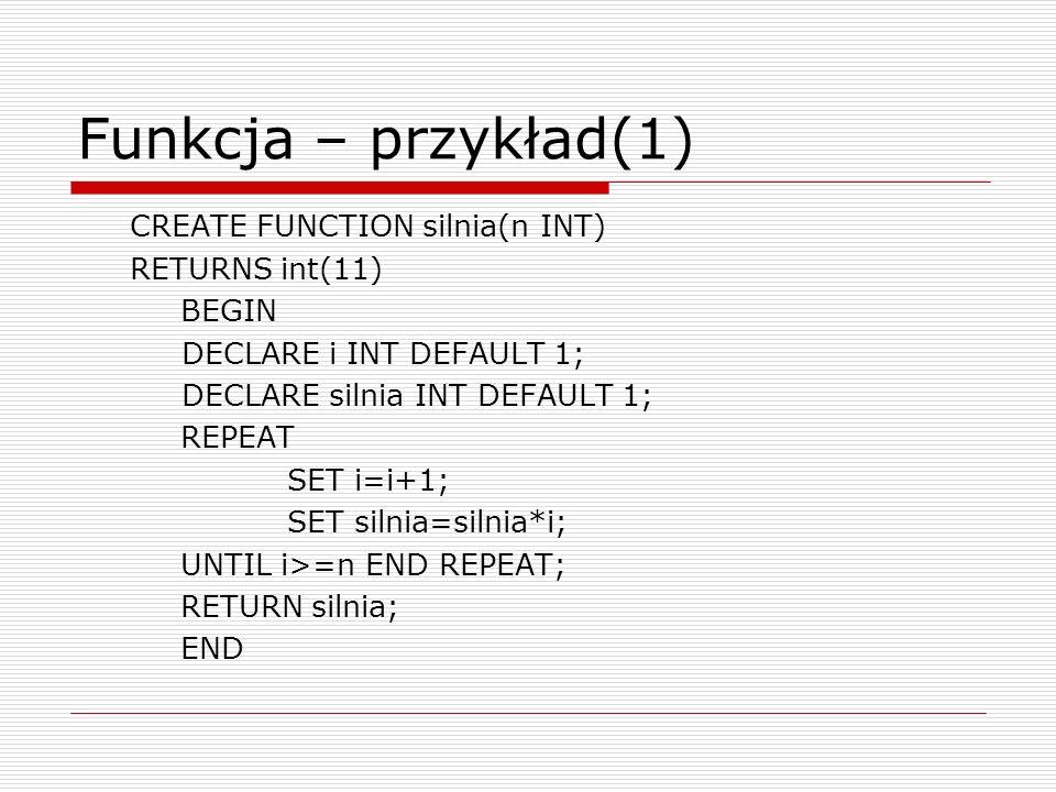 Funkcja – przykład(1)