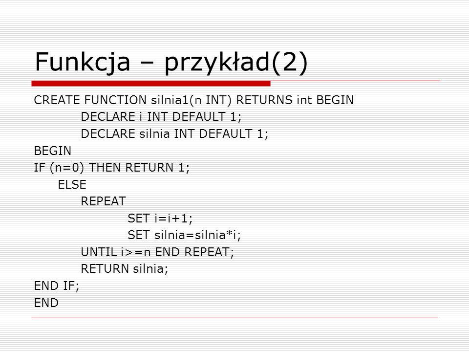 Funkcja – przykład(2)