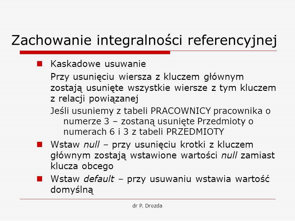 Zachowanie integralności referencyjnej