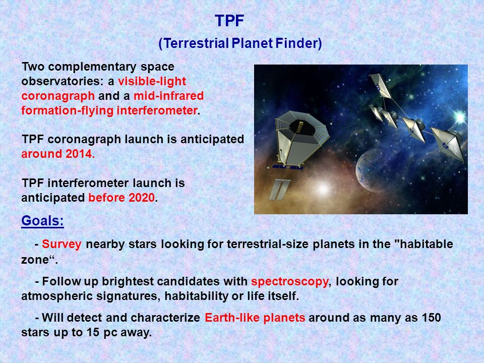TPF (Terrestrial Planet Finder)
