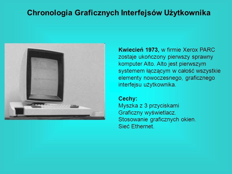 Chronologia Graficznych Interfejsów Użytkownika