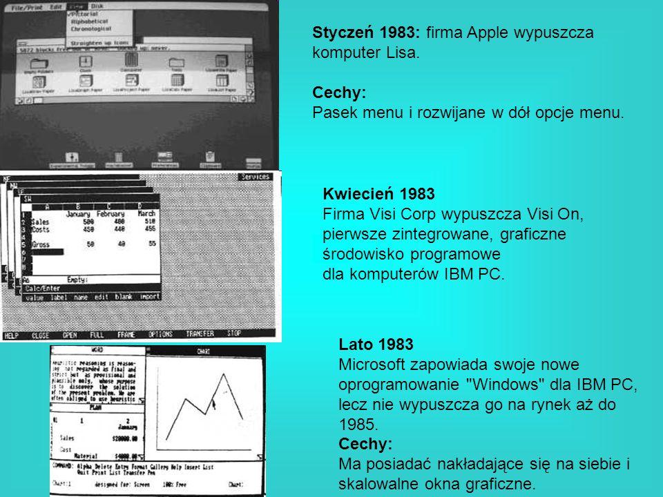 Styczeń 1983: firma Apple wypuszcza komputer Lisa.