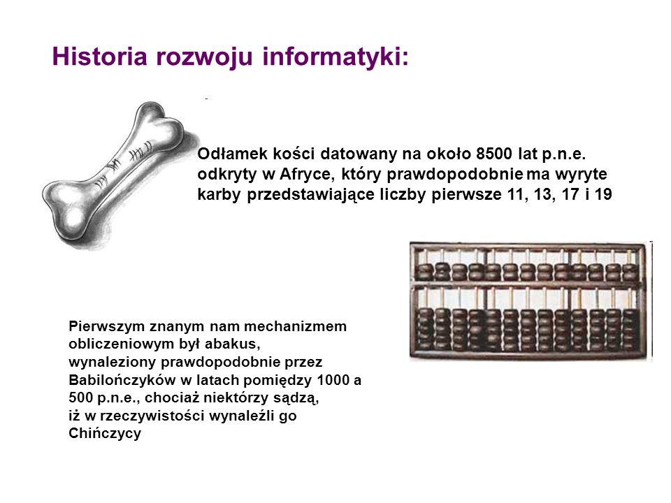 Historia rozwoju informatyki: