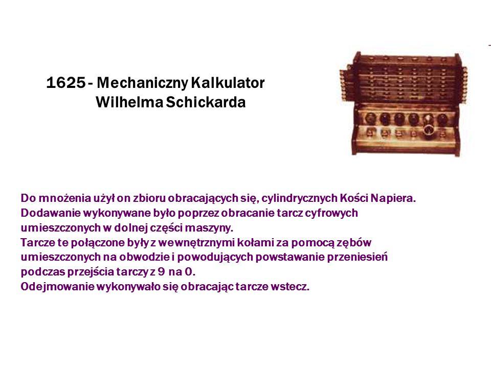 1625 - Mechaniczny Kalkulator Wilhelma Schickarda