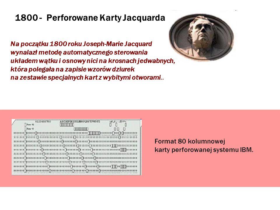 1800 - Perforowane Karty Jacquarda