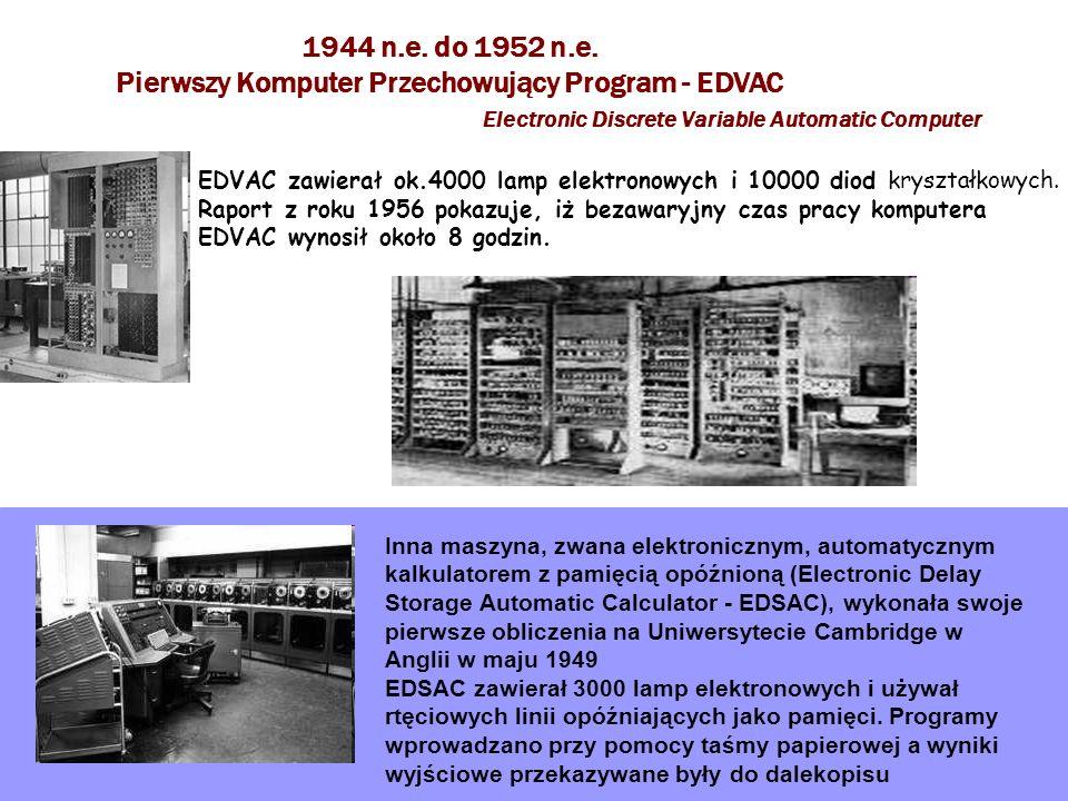 Pierwszy Komputer Przechowujący Program - EDVAC