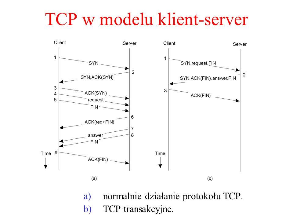 TCP w modelu klient-server