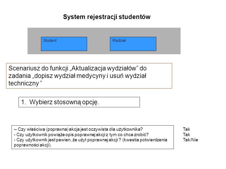 System rejestracji studentów