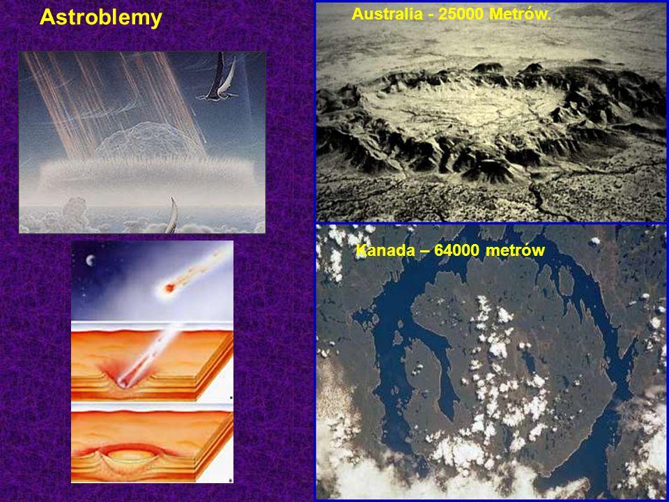 Astroblemy Australia - 25000 Metrów. Kanada – 64000 metrów