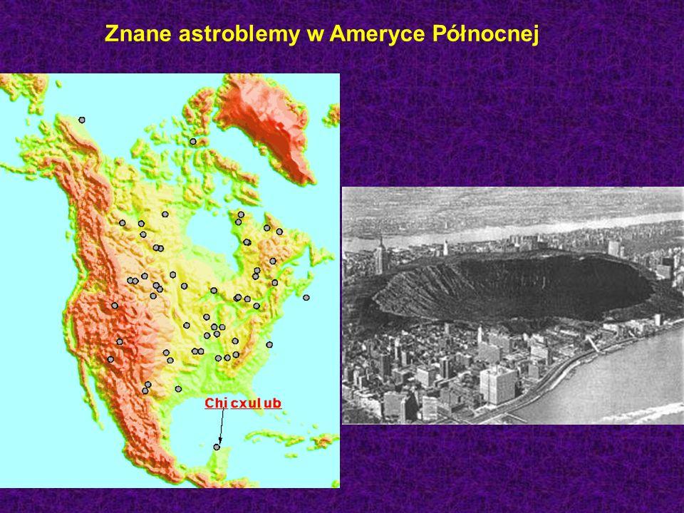 Znane astroblemy w Ameryce Północnej