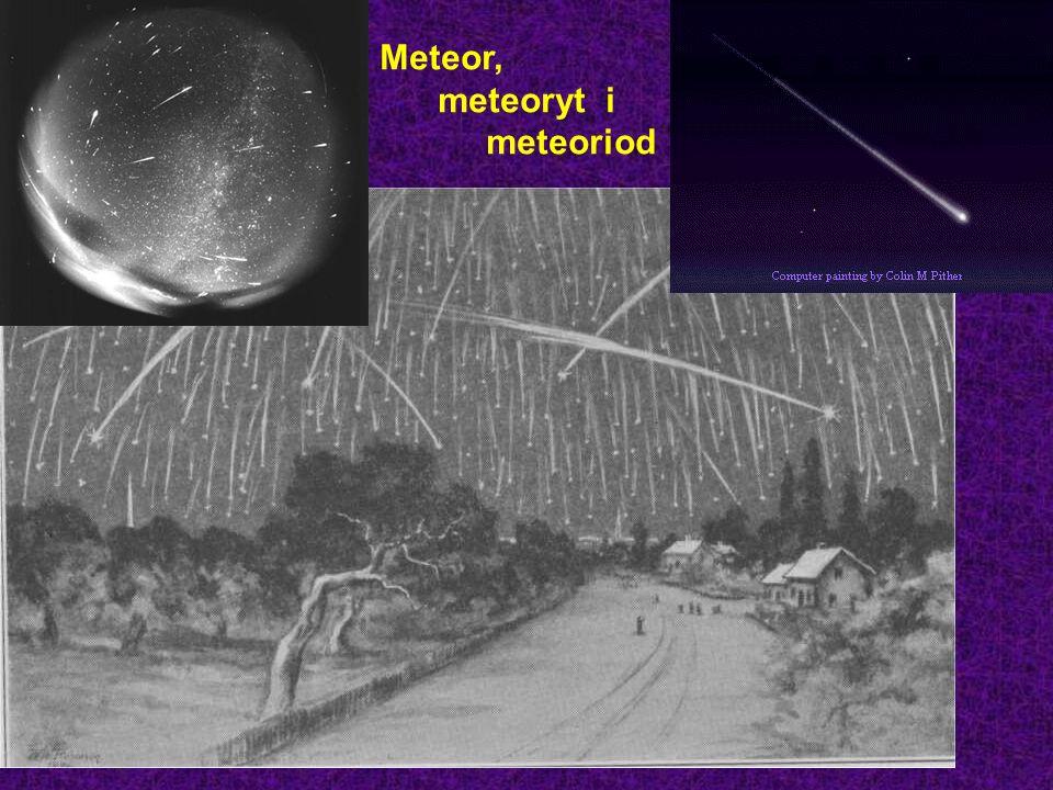 Meteor, meteoryt i meteoriod