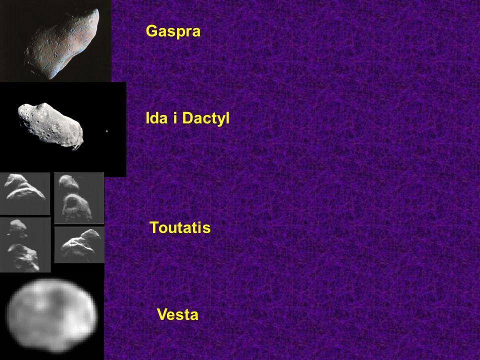 Gaspra Ida i Dactyl Toutatis Vesta