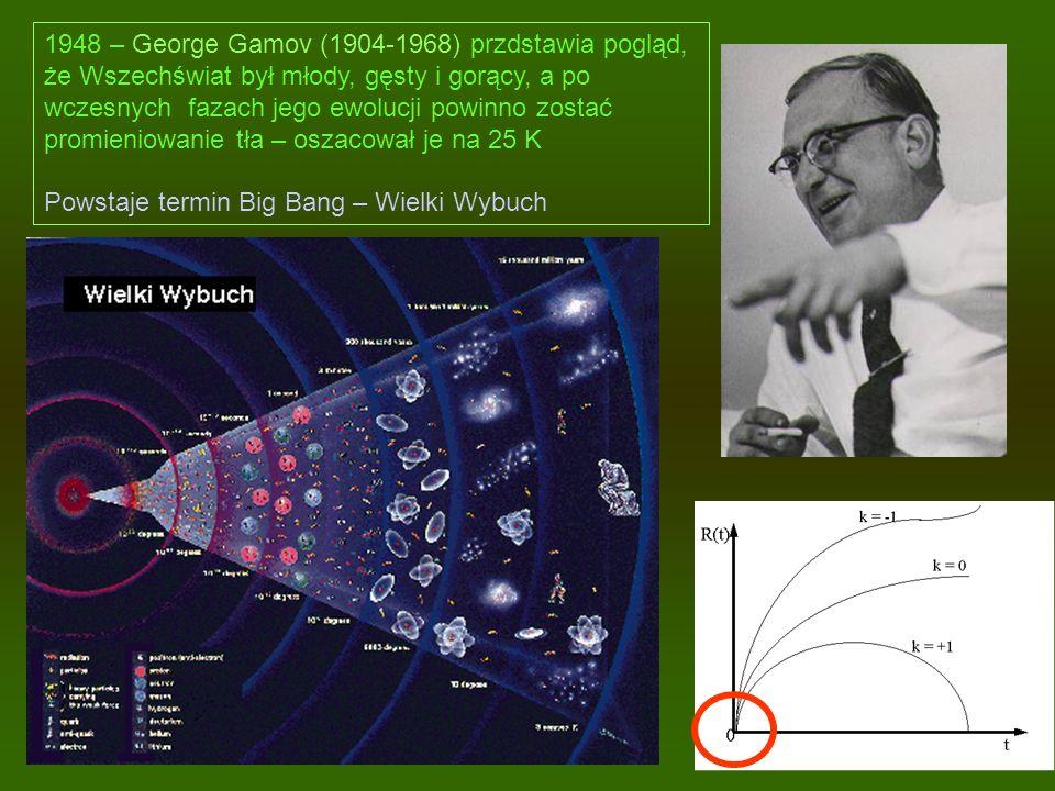 1948 – George Gamov (1904-1968) przdstawia pogląd,