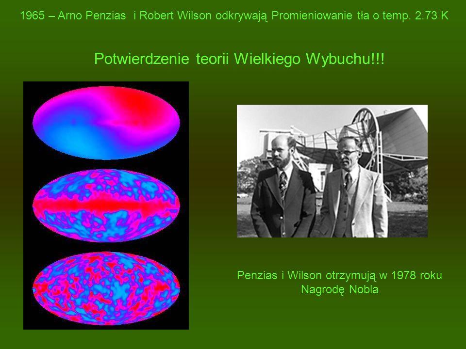 Penzias i Wilson otrzymują w 1978 roku