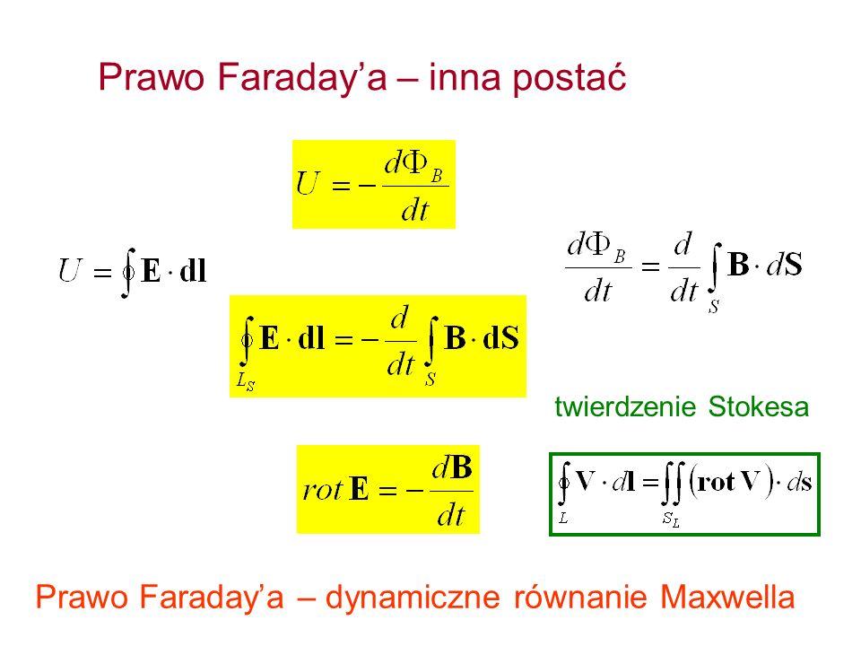 Prawo Faraday'a – inna postać