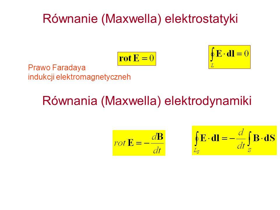 Równanie (Maxwella) elektrostatyki