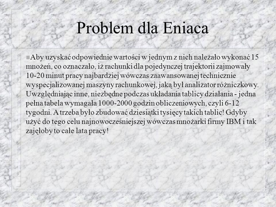 Problem dla Eniaca