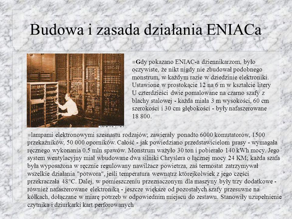 Budowa i zasada działania ENIACa